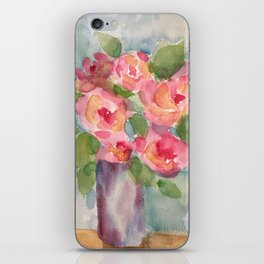 Vase of Roses iPhone Skin