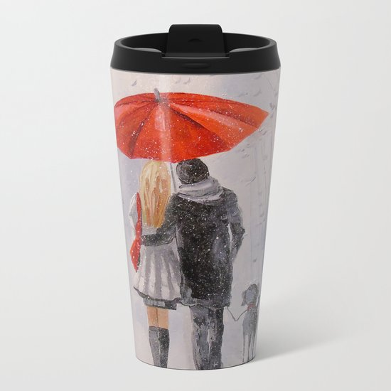 After the rain in the Park Metal Travel Mug