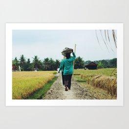 Women at work (Bali, Indonesia) Art Print