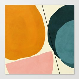 shapes geometric minimal painting abstract Canvas Print