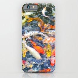 Koi Carp Splash iPhone Case