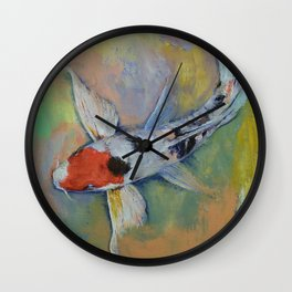 Maruten Butterfly Koi Wall Clock