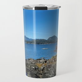 Bays and islands of the northern sea Travel Mug