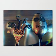 Mrs. Fork & Mr. Spoon Canvas Print