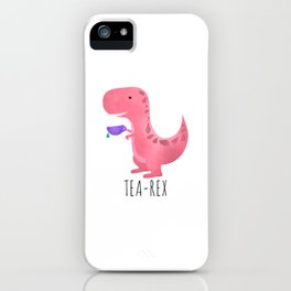 Tea-Rex | Pink iPhone Case