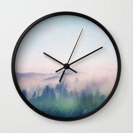 Pastel vibes 62 Wall Clock