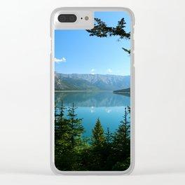 Beautiful Lake Minnewanka Clear iPhone Case