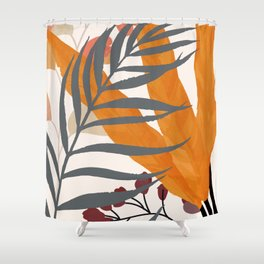 Colorful Red Leaves Shower Curtain