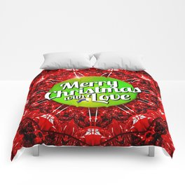 Merry Christmas with Love Comforters