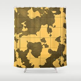 Old World Fictional Map Shower Curtain
