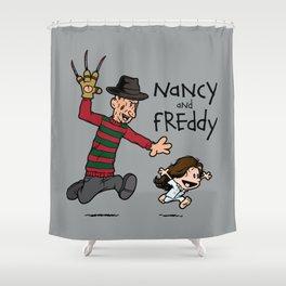 Nancy and Freddy Shower Curtain