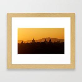 Sundown in Myanmar Framed Art Print
