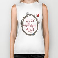 over the garden wall Biker Tanks featuring Over The Garden Wall by Tourmaline Design
