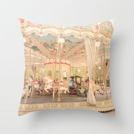Paris Carousel Throw Pillow