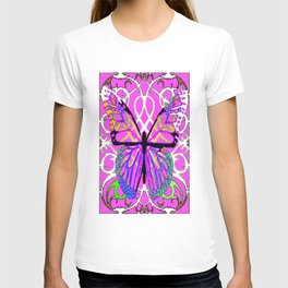 Butterfly Fantasy  in Spring Green & Lavender Colors T-shirt