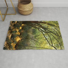 Pathways of Gold Rug