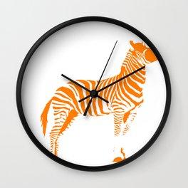 Animals Illustration Zebra Wall Clock