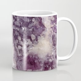 Deep Purple Quartz Crystal Coffee Mug