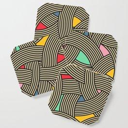 Modern Scandinavian Multi Colour Color Curve Graphic Coaster
