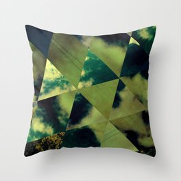 Partly Cloudy Skies Throw Pillow