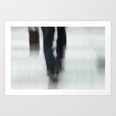 Just Walking Art Print
