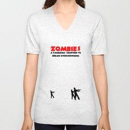 Zombie Pandemic Unisex V-Neck