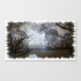 Ghostly Chopper Canvas Print