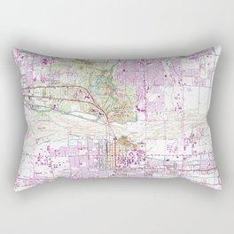 Vintage Map of Tempe Arizona (1952) Rectangular Pillow