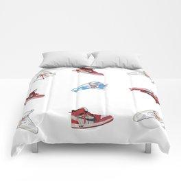 Jordan 1 Offwhites Pattern Comforters
