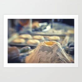 Egg Volcano baking biscuits kitchen art Art Print