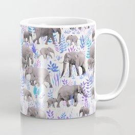 Sweet Elephants in Aqua, Purple, Cream and Grey Coffee Mug
