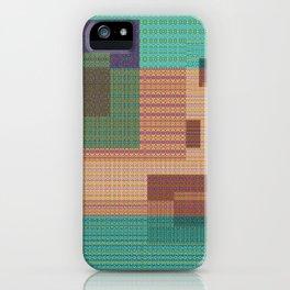 Weaving Loom Geometric Print 1 iPhone Case