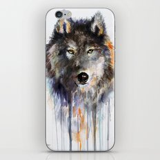 Charcoal Wolf  iPhone & iPod Skin