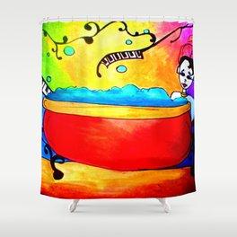 Rainbow relaxation Shower Curtain