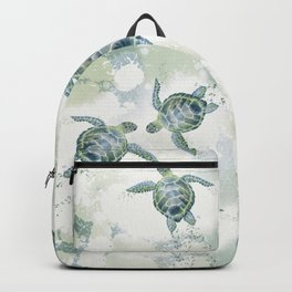 Swimming Together 3 - Sea Turtle  Backpack