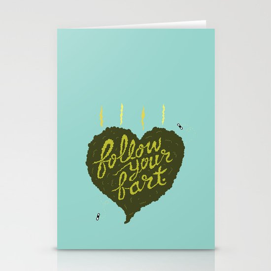 Follow Your Fart Stationery Cards