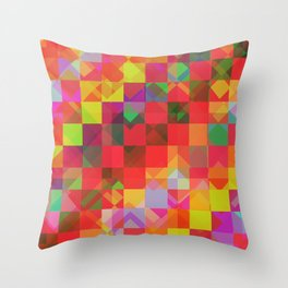 Don't be a square / Pattern Throw Pillow