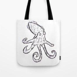 Octopus - Original Pen Ink Sketch Tote Bag