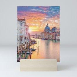 Venice, Italy Grand Canal Sunset landscape painting Mini Art Print