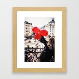 Stockholm, February 2014 Framed Art Print