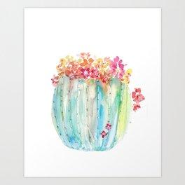 Cactus of Many Colors Art Print