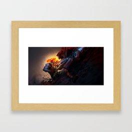 Battle from sights Framed Art Print