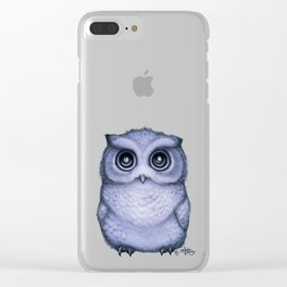 """""""The Little Owl"""" by Amber Marine ~ (Lavender Bud Version) Pencil&Ink Illustration, (Copyright 2016) Clear iPhone Case"""