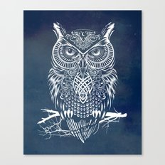Warrior Owl Night Canvas Print