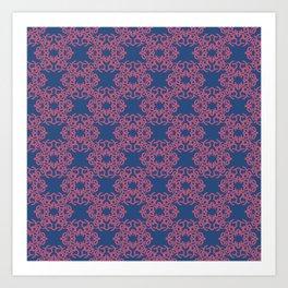 journalier pinkblue Art Print