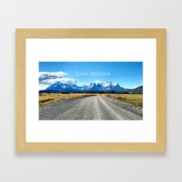 Torres del Paine - Chile Framed Art Print