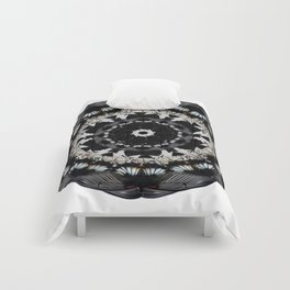 Black and White Butterfly Mandala Comforters