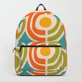 Mid Century Modern Solar Flares Pattern 2 Backpack
