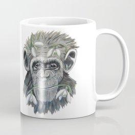 chimpanzee with snowdrop Coffee Mug