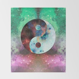 Ying-Yang Galaxy Throw Blanket